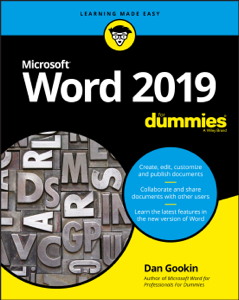 Word 2019 For Dummies Buch-Cover