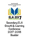 ELA Growth  Learning  Conference Booklet