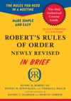 Roberts Rules Of Order Newly Revised In Brief 2nd Edition