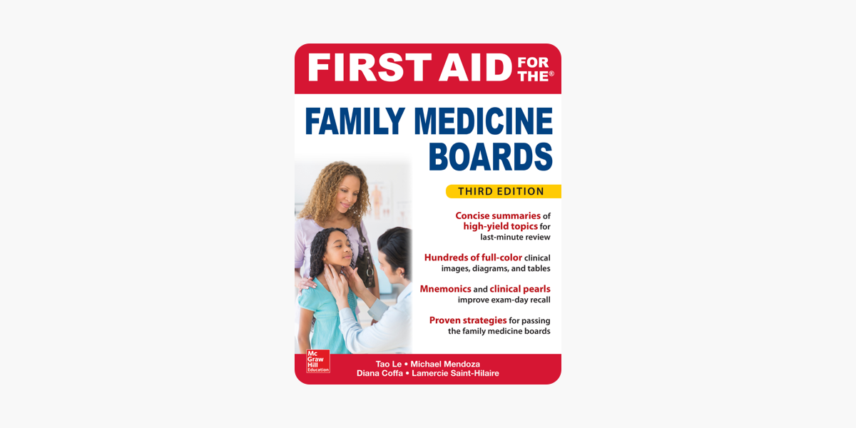first aid for the family medicine boards, third edition on apple books
