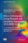 Africa-EU Renewable Energy Research And Innovation Symposium 2018 RERIS 2018