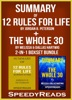 Summary of 12 Rules for Life: An Antidote to Chaos by Jordan B. Peterson + Summary of The Whole 30 by Melissa & Dallas Hartwig 2-in-1 Boxset Bundle