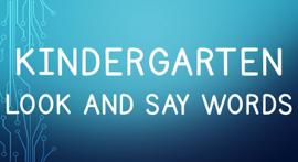 Kindergarten Look and Say Words book