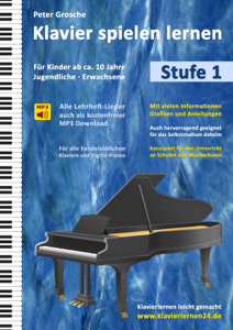 Klavier spielen lernen (Stufe 1) Buch-Cover
