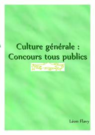 CULTURE GENERALE AUX CONCOURS*****