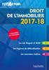 Top'Actuel Droit De L'Immobilier 2017-2018 - Sophie Bettini & Serge Bettini