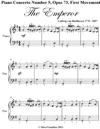 Piano Concerto Number 5 Opus 73 First Movement The Emperor Easy Piano Sheet Music