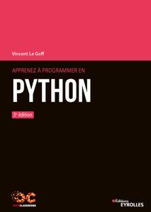 Apprenez à programmer en Python Couverture de livre