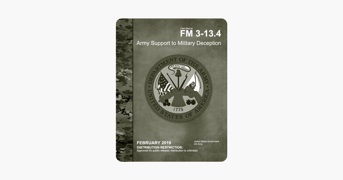 Field Manual FM 3-13 4 Army Support to Military Deception February 2019