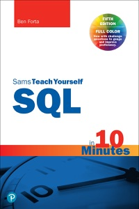 Sams Teach Yourself SQL in 10 Minutes a Day, 5/e Book Cover