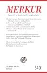 MERKUR Gegrndet 1947 Als Deutsche Zeitschrift Fr Europisches Denken - 2019-5