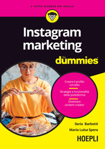 Instagram marketing for dummies Copertina del libro