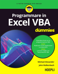 Programmare in Excel VBA For Dummies Copertina del libro