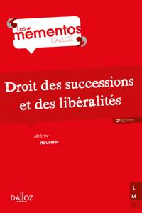 Droit des successions et des libéralités - 2e ed. Couverture de livre