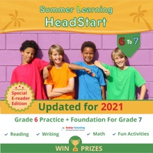 Lumos Summer Learning HeadStart, Grade 6 To 7: EReader Edition - Math, Reading, And Language Practice Plus Fun Activities, Bridge To Success With Standards Aligned Practice