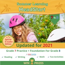 Lumos Summer Learning HeadStart, Grade 7 To 8: EReader Edition - Math, Reading, And Language Practice Plus Fun Activities, Bridge To Success With Standards Aligned Practice