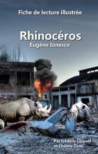 Fiche de lecture illustrée - Rhinocéros, d'Eugène Ionesco Libro Cover