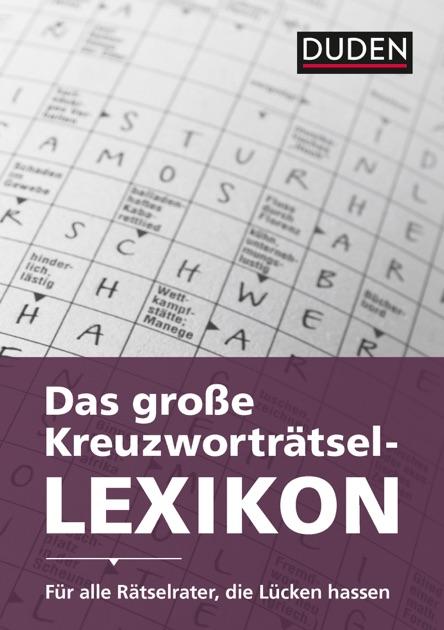 Duden Das Große Kreuzworträtsel Lexikon Von Dudenredaktion In