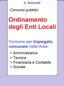 Concorso Impiegato comunale - Ordinamento degli Enti Locali Copertina del libro