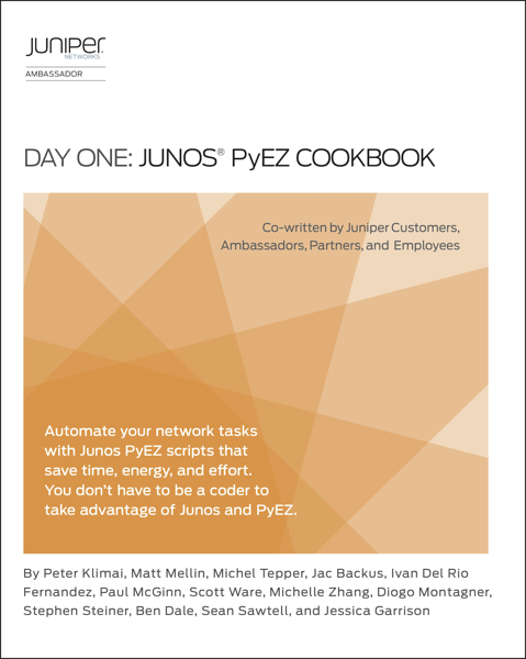 Day One: Junos PyEZ Cookbook