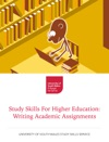 Study Skills For Higher Education Writing Academic Assignments