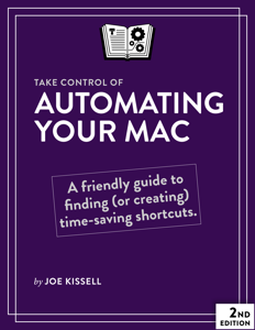 Take Control of Automating Your Mac, Second Edition La couverture du livre martien