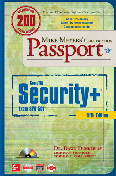 Mike Meyers' CompTIA Security+ Certification Passport, Fifth Edition (Exam SY0-501)