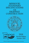 2018 Missouri Standard Specifications Second Edition