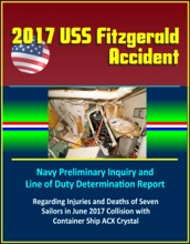 2017 USS Fitzgerald Accident: Navy Preliminary Inquiry and Line of Duty Determination Report Regarding Injuries and Deaths of Seven Sailors in June 2017 Collision with Container Ship ACX Crystal