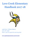 Love Creek Elementary Handbook 2017-18