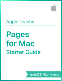 Pages for Mac Starter Guide macOS High Sierra book