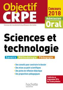 Objectif CRPE Sciences et technologie 2018 La couverture du livre martien