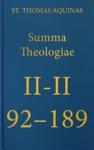Summa Theologiae II-II 92-189