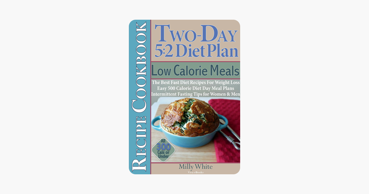 ‎Two-Day 5:2 Diet Plan Low Calorie Meals Recipe Cookbook The Best Fast Diet  Recipes For Weight Loss Easy 500 Calorie Diet Day Meal Plans