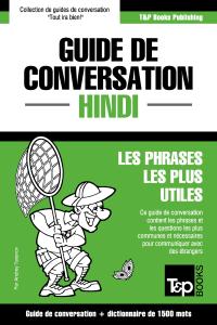Guide de conversation Français-Hindi et dictionnaire concis de 1500 mots La couverture du livre martien