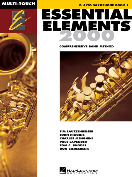 Essential Elements 2000 - Book 1 for E-flat Alto Saxophone (Textbook)
