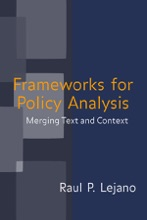 Frameworks For Policy Analysis