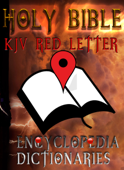 Holy Bible (KJV Red Letter Edition) with Encyclopedia and Dictionaries Book Cover