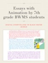 Essays With Animation By 7th Grade BWMS Students
