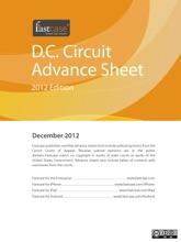 D.C. Circuit Advance Sheet December 2012
