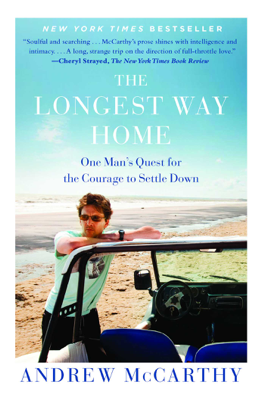 The Longest Way Home - Andrew McCarthy book