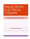 BEAUTY BOOKS ELECTRICAL THERAPY
