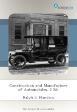 Construction And Manufacture Of Automobiles, 2 Ed.
