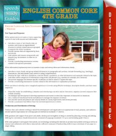 English Common Core 4th Grade (Speedy Study Guide)