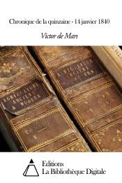 Download Chronique de la quinzaine - 14 janvier 1840