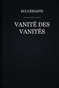 Vanité des vanités Couverture de livre