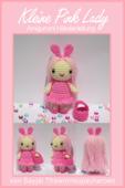 Kleine Pink Lady Amigurumi Häkelanleitung