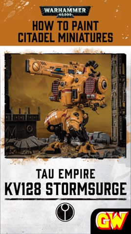 How to Paint Citadel Miniatures: KV128 Stormsurge (Mobile Edition)