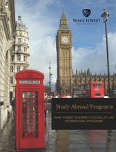 Study Abroad Programs, Wake Forest University School of Law