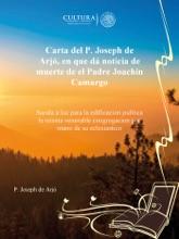Carta Del P. Joseph De Arjó, En Que Dá Noticia De Muerte De El Padre Joachin Camargo
